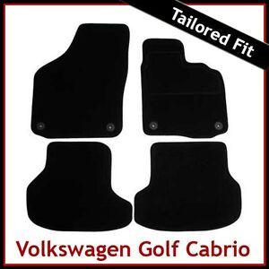 Volkswagen-VW-Golf-Mk6-Cabriolet-2011-2016-Tailored-Carpet-Car-Mats-BLACK
