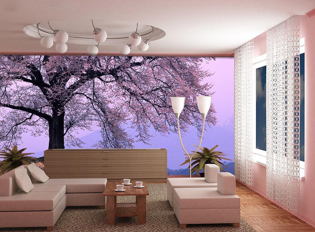 3D Fleur Arbre 34 Photo Papier Peint en Autocollant Murale Plafond Chambre Art