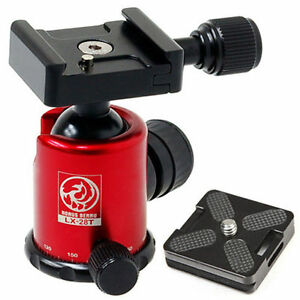 HORUSBENNU-DSLR-SLR-Camera-Monopod-Tripod-Ball-Head-LX-28T-Red-w-Dovetail-Plate