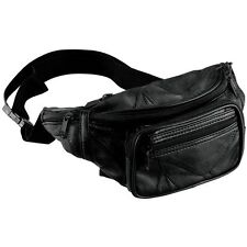 Fanny Pack Sling Bag Black Leather Mens Waist Belt Womens Pouch Chest Crossbody