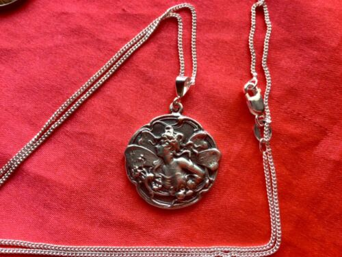 Fantasy Vintage Bronze Stamping Nymph Floral Jewelry Daisy Fairy Pin LARP Nude Fae Folk