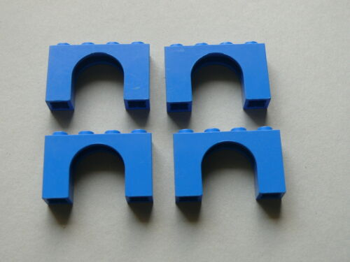4 blue brick arch Lego 4 arches bleues set 3314 5874 5860 7870