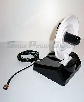 1 8dBi 2.4GHz Dish High Gain Booster RP-SMA WiFi Antenna Router WAN Repeater