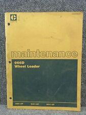Oem Caterpillar Cat 966d Front End Wheel Loader Maintenance Manual Sebu5764 01