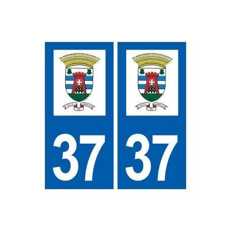 37 Sorigny logo ville autocollant plaque stickers droits