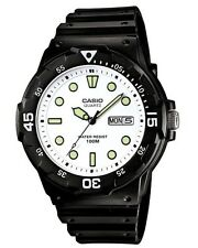 Casio Watch * MRW200H-7EV Diver Look 100WR White Face Black Strap COD PayPal