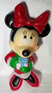 Disney-Minnie-Mouse-Christmas-Blow-Mold-By-Santa-039-s-Best-17-034-Holiday-Decoration