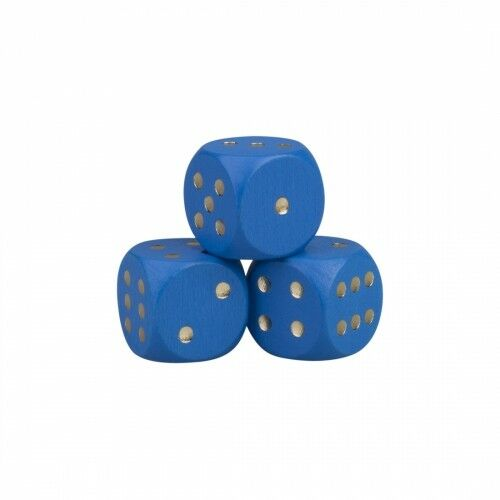 Dice - 0 25 32in - Wood - bluee