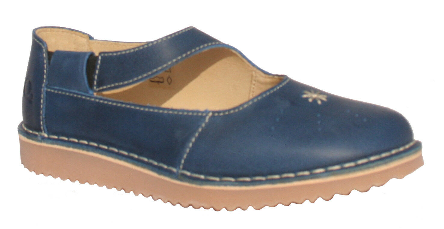 Oxygène STITCH DOWN Mary Jane Jane Jane Tavira Bleu Tailles 36 To 41 (UK 3-7.5) cbd218