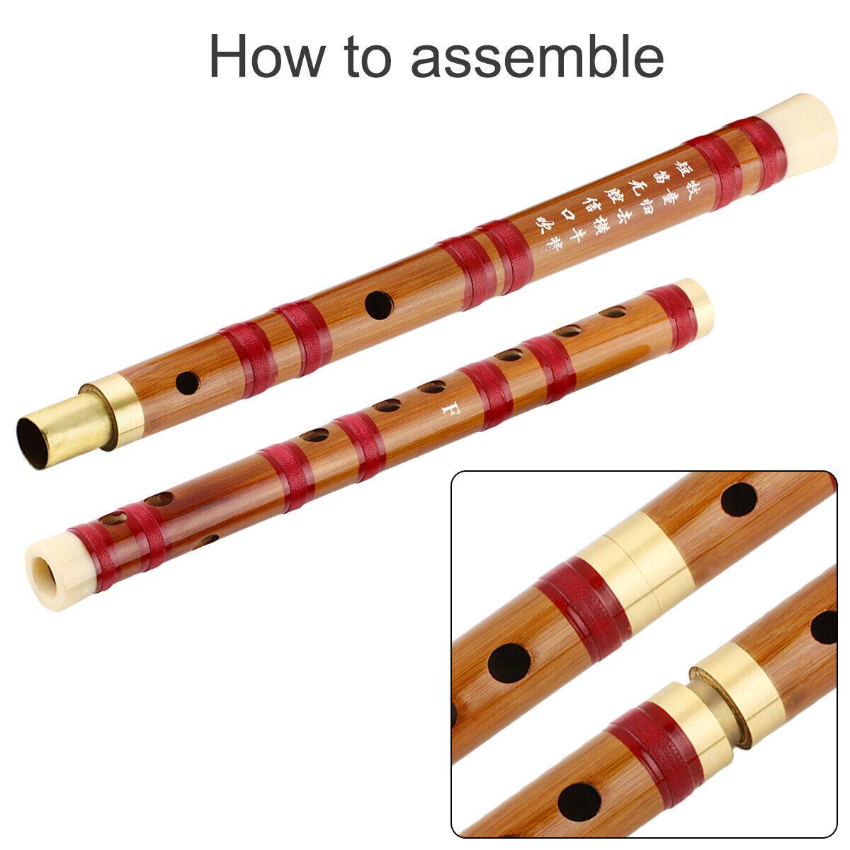 Hot F Key Chinese Traditional Handmade Dizi Bamboo Flute Musical Instrument