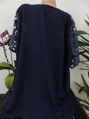 Damen Bluse Größe 44 46 48 50 Übergröße Spitze Blumen Tunika Blusen Shirt 110