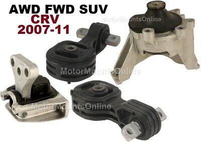 K984 Fit 2007-2011 Honda CRV 2.4L 4WD Engine Motor /& Trans Mount Set 5 PCS