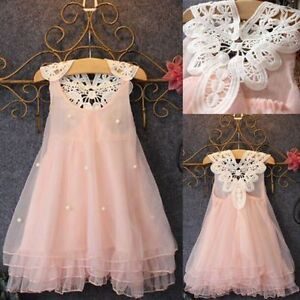 Robes-Flower-Girls-Princess-Dress-Kids-Baby-Party-Pageant-Lace-Tulle-Tutu-Dresse