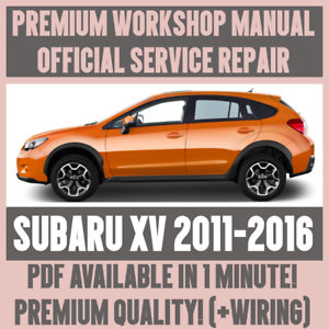 workshop manual service \u0026 repair guide for subaru xv 2011 2016 1990 Subaru Legacy Wiring-Diagram image is loading workshop manual service amp repair guide for subaru