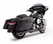 Rinehart Black 2-into-1 Pipe Black Tip Header 2009-2016 Harley Touring Exhaust