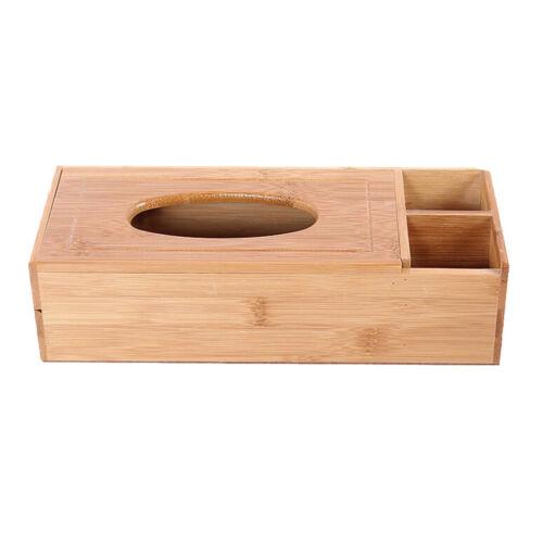 Holz Taschentuchbox Kosmetiktücherbox Taschentuchspender für Stift,