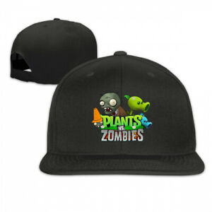 cfab5a0074f Image is loading Unisex-Plants-Vs-Zombies-Logo-Adjustable-Baseball-Snapback-