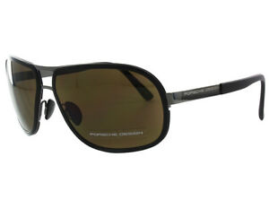 88cf9ed59c10 NEW Porsche Design P8533 A Silver Matte Black   Brown sunglasses ...