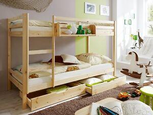Letto A Castello Bambini : Cameretta bambini letto a castello in legno pino naturale ebay
