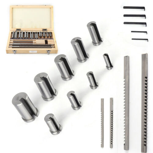 Hardware Tools Keyway Broach 18pcs HSS Keyway Broach Kit Broaches//Bushings//Shims