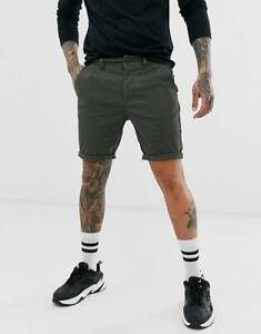 New-Mens-Chino-Shorts-Cotton-Casual-Summer-Half-Pant-Stretch-Slim-Fit-Shorts