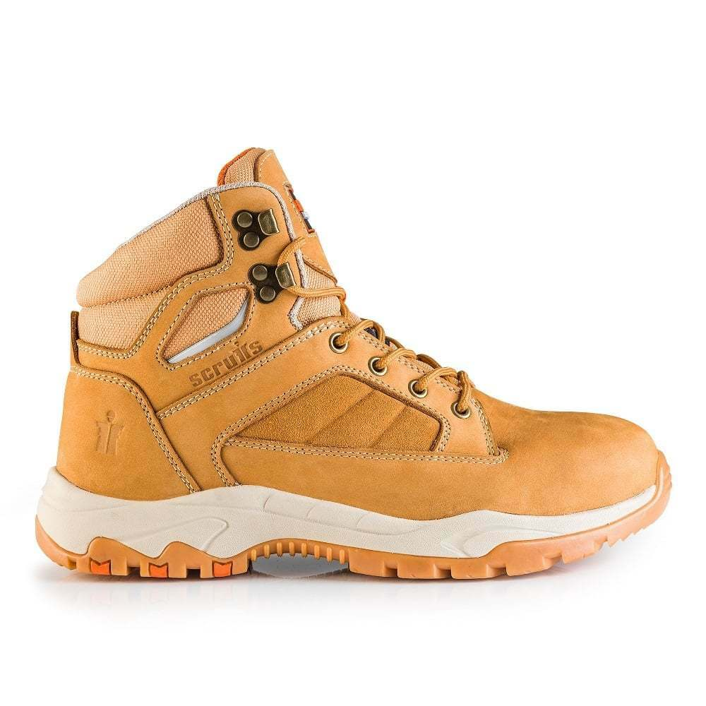 SCRUFFS OXIDE SAFETY WORK BOOTS   STEEL TOE   TAN   WATER RESISTANT