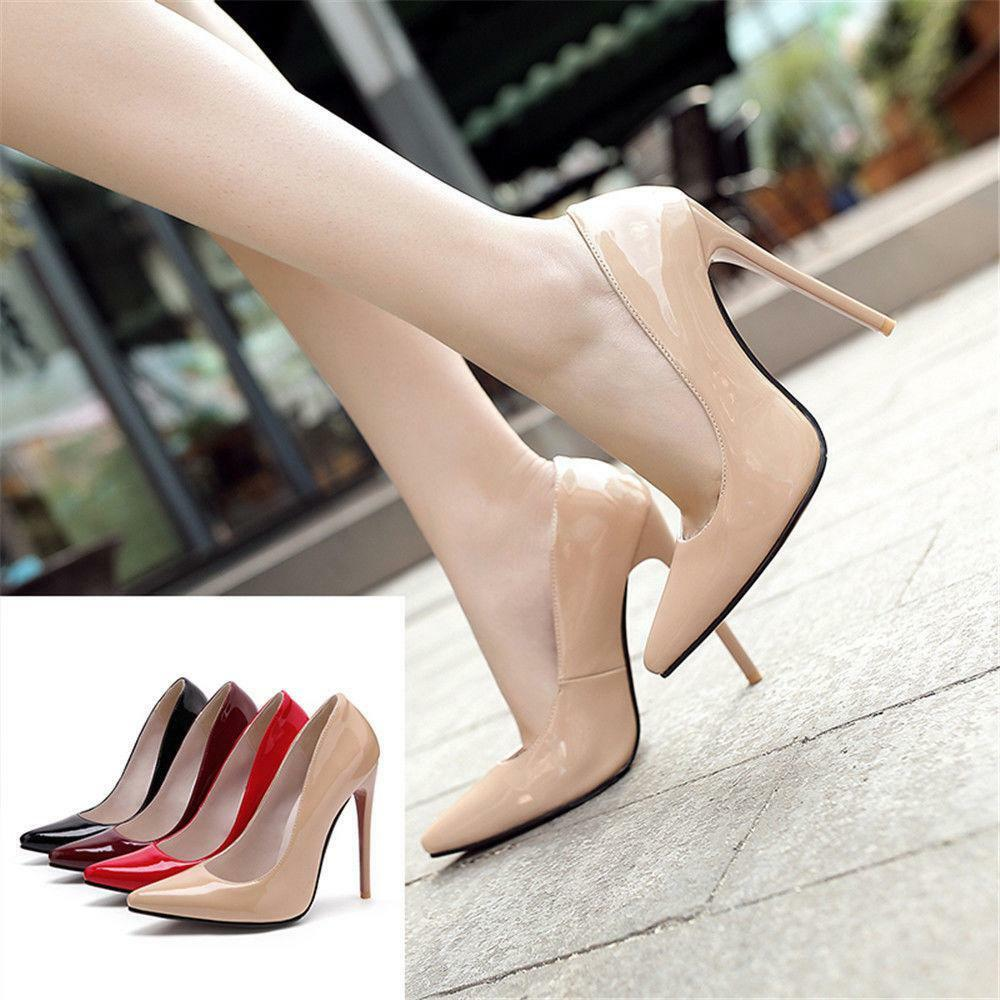 Extreme High Heels Stilettos Pumps Sexy Pointed Toe 12 Cm Party Ladies Party Cm Shoes New 66f287