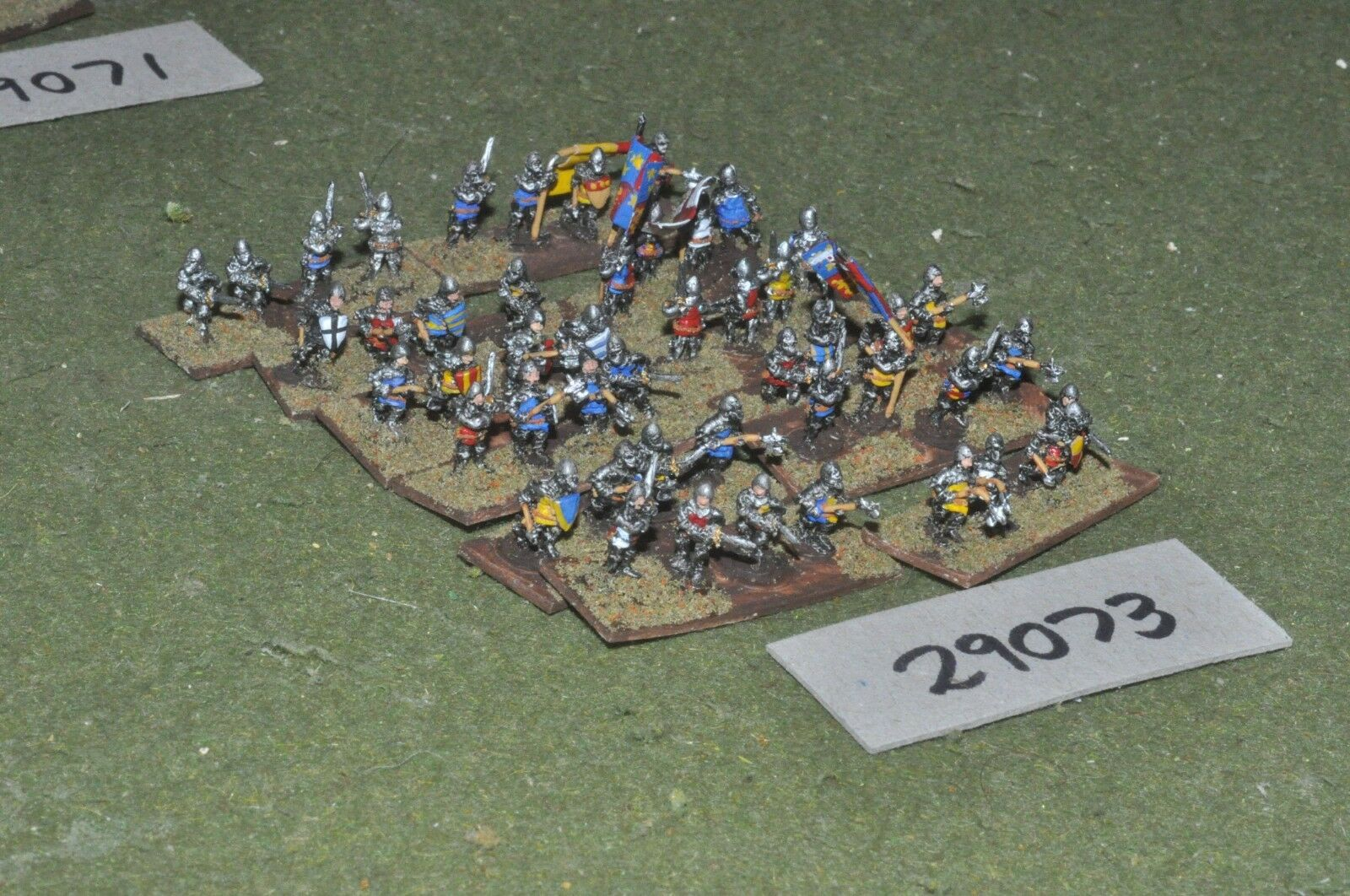 10mm medieval   english - dismounted men at arms 48 figures - inf (29073)