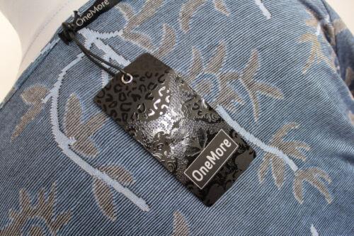 OneMore Damen Cardigan Longjacke offen langarm blau gemustert Gr M L 2XL NEU R48