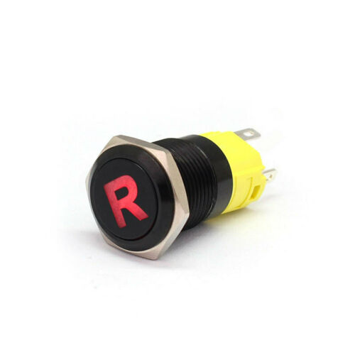 16mm 12-24V Waterproof Car LED Power Push Button Momentary Switch Metal ON//OF UK