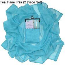 Sheer Voile Window Curtains: Single Panel, Pair, Grommet Panel OR Swag Scarf