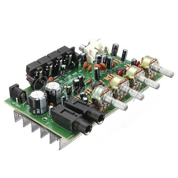 12V 60W Hi Fi Stereo Digital Volume Tone Control Board for Audio Power Amplifier