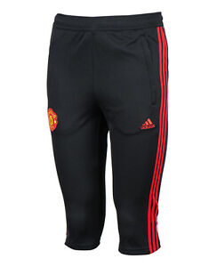 Details About Adidas Manchester United 3 4 Capri Pants Training Soccer Football Pant Ap6128