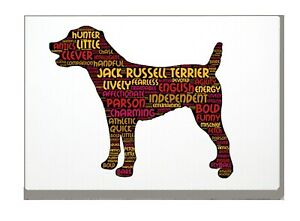 Jack-Russell-Terrier-Print-Word-Art-A4-A3-Mothers-Day-Gift-Personalised-Option
