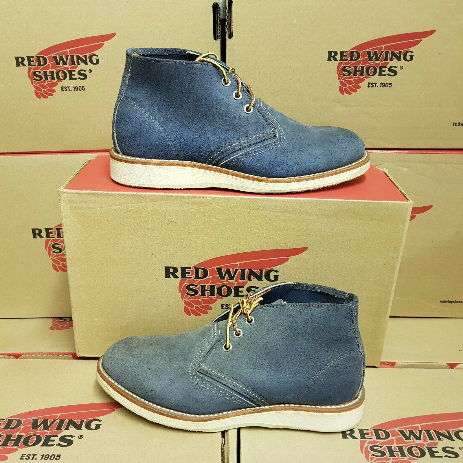 rojo WING zapatos 3146 Work Chukka hombres leather botas US 7 (pv 259 )