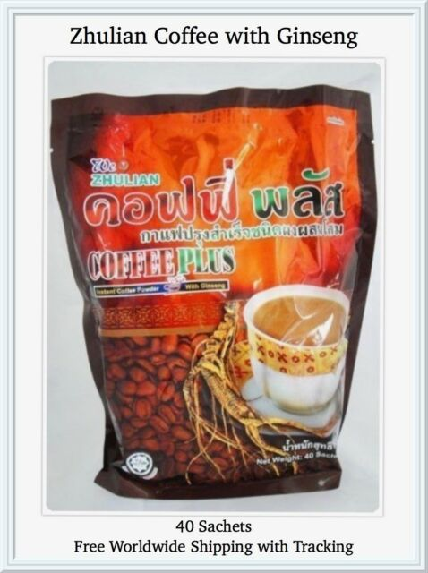 Zhulian With Ginseng Health Care Instant Coffee Powder Plus 20gm Home & Garden