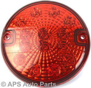 12-24v-14-LED-Hamburger-Rear-Fog-Light-Red-E4-Round-Trailer-Car-Van-New