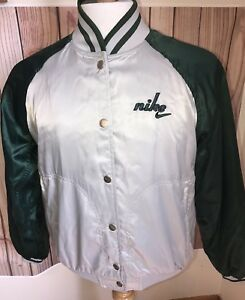 0afe3dc1f062 Vintage Nike Swoosh Windbreaker Jacket Sz S 4 6 Gray Green Track ...