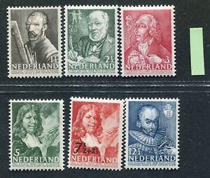 Nederland nvph 350 / 355, Zomerzegels 1940, ongebruikt MH ;
