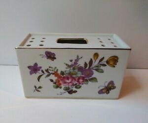 Vintage-Flower-Frog-Brick-Vase-9012-Andrea-Sadek-Porcelain-Flower-Holder