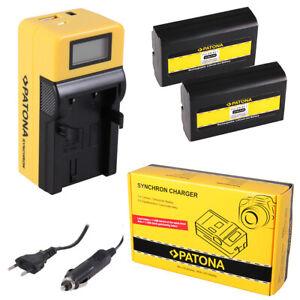 caricabatteria USB dual per Nikon Coolpix 5000,5400,5700 2x Batteria Patona