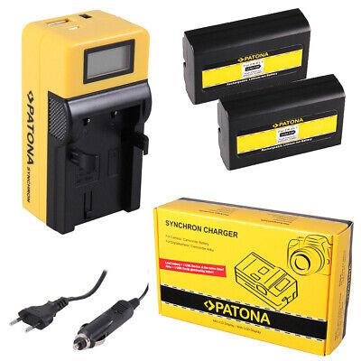 caricabatteria casa//auto per Nikon EN-EL1 2x Batteria Patona