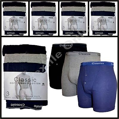 Mens Billy Classic Comfort Quality Underwear Check Boxer Shorts Assorted Colours