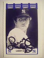 LARRY GURA signed The Wiz YANKEES 1970s baseball card AUTO Autographed 1974 1975
