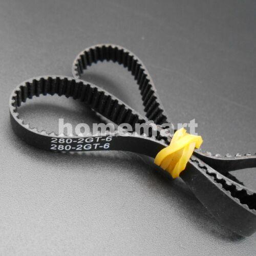 2GT 2GT-200 232 280 400 600 900 1220 Open Closed loop synchronous belt 6mm Belts