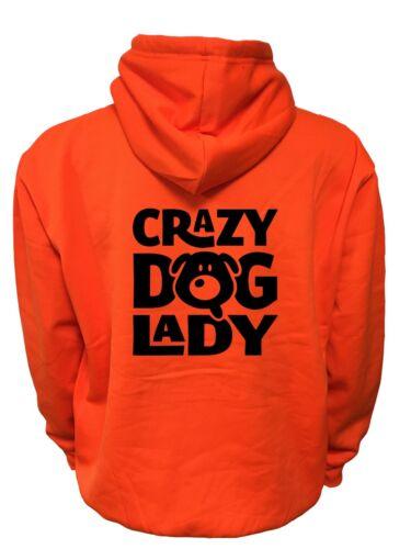 HI VIS VIZ CRAZY DOG LADY 4 COLOURS AVAILABLE SUPER BRIGHT KIDS HOODIE