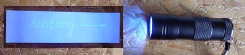 Lumière noire 12 LED Geocahing Lampe de poche UV noir