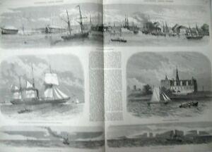 Denmark-Copenhagen-Ships-Port-Military-Prints-L-039-Illustration-1856