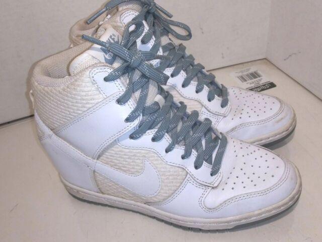 9ffc7b90d6 Nike Wedge Dunk Sky Hi Essential White/Dove Grey HIDDEN WEDGE SIZE 7 644877-