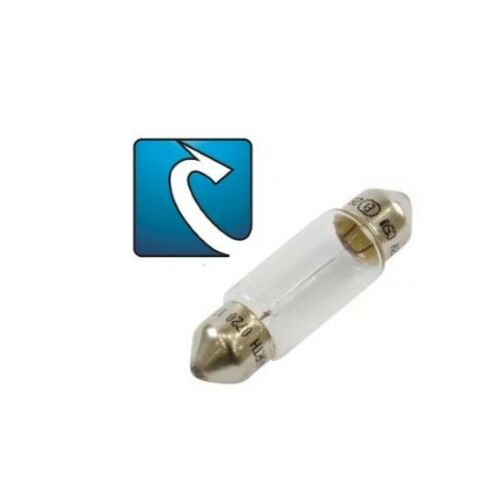 LAMPADINA siluro 12 Volt 10 Watt diametro mm 10 X 31 mm lunghezza 0,42 Ampere